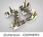 3d rendering  twenty five | Shutterstock . vector #1260948901