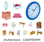 furniture and interior cartoon... | Shutterstock .eps vector #1260950494