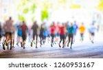 marathon runners background    Shutterstock . vector #1260953167
