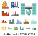 factory and facilities cartoon... | Shutterstock .eps vector #1260956914