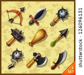 weapon icons set 2 | Shutterstock .eps vector #126096131