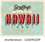 vintage touristic greeting card ... | Shutterstock .eps vector #126096209