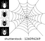 cobweb spider on a white... | Shutterstock .eps vector #126096269