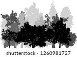 illustration with grey forest... | Shutterstock .eps vector #1260981727