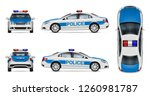 Police Car Vector Mockup On...
