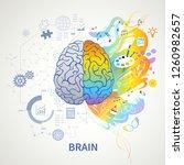 brain functions concept... | Shutterstock .eps vector #1260982657