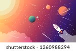 conquest of space. vector... | Shutterstock .eps vector #1260988294