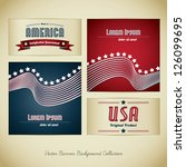 made in usa banner collection | Shutterstock .eps vector #126099695