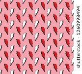 lightning seamless pattern... | Shutterstock .eps vector #1260998494