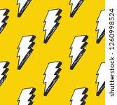lightning seamless pattern... | Shutterstock .eps vector #1260998524