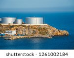 a major oil storage and... | Shutterstock . vector #1261002184