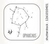 ophiuchus hand drawn zodiac... | Shutterstock .eps vector #1261010401