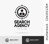 search agency logo isolated on... | Shutterstock .eps vector #1261011304