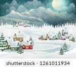Evening Village Winter...