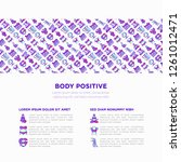 body positive concept with thin ... | Shutterstock .eps vector #1261012471