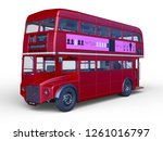 3d cg rendering of double decker | Shutterstock . vector #1261016797