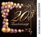20 year anniversary celebration ... | Shutterstock .eps vector #1261019344