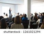 presenter presenting... | Shutterstock . vector #1261021294