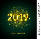 2019 happy new year background... | Shutterstock .eps vector #1261022467