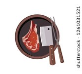 roasted beef isolated vector.... | Shutterstock .eps vector #1261031521