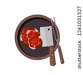 roasted beef isolated vector.... | Shutterstock .eps vector #1261031527