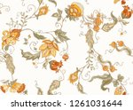 seamless pattern with stylized...   Shutterstock .eps vector #1261031644