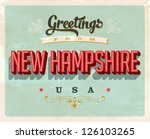 vintage touristic greeting card ... | Shutterstock .eps vector #126103265