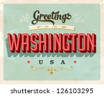 vintage touristic greeting card ... | Shutterstock .eps vector #126103295