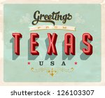 vintage touristic greeting card ... | Shutterstock .eps vector #126103307