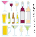 a collection of vector drink... | Shutterstock .eps vector #126103325