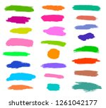 dry brush  pen  marker  colored ... | Shutterstock .eps vector #1261042177