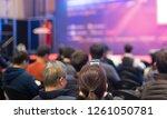 audience watching a... | Shutterstock . vector #1261050781