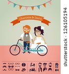 hipster wedding   design your... | Shutterstock .eps vector #126105194