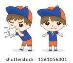 patient boy  health care... | Shutterstock .eps vector #1261056301