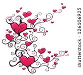 heart ornament design | Shutterstock .eps vector #126106925