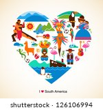 south america love   concept... | Shutterstock .eps vector #126106994