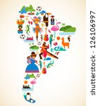 south america love   concept... | Shutterstock .eps vector #126106997