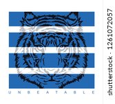 tiger unbeatable illustration ... | Shutterstock .eps vector #1261072057