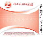 abstract red grid medical... | Shutterstock .eps vector #126108209