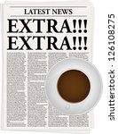 the newspaper with a headline... | Shutterstock .eps vector #126108275