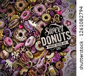 donuts hand drawn vector... | Shutterstock .eps vector #1261082794