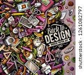 cartoon vector doodles design... | Shutterstock .eps vector #1261082797
