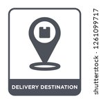 delivery destination icon...   Shutterstock .eps vector #1261099717