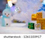 gift box blurred background... | Shutterstock . vector #1261103917