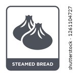 steamed bread icon vector on... | Shutterstock .eps vector #1261104727