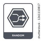 random icon vector on white... | Shutterstock .eps vector #1261110817