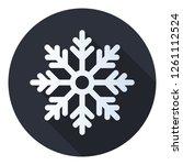 snow vector icon. snow icon in... | Shutterstock .eps vector #1261112524