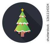 christmas tree icon.spruce... | Shutterstock .eps vector #1261114324