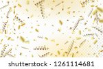 modern tinsel confetti isolated ...   Shutterstock .eps vector #1261114681
