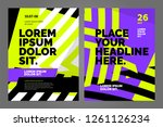 layout poster template design... | Shutterstock .eps vector #1261126234